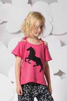 Paper Wings Hot Pink Organic Cotton Horse Silhouette Tee  5