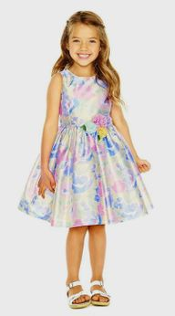 Pippa & Julie Pastel Floral Spring Easter Girls Dress