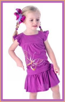 Queen Bee Adorable Purple Gold Butterfly Dress 18m 24m