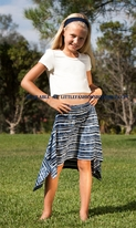 Ragdoll & Rockets 2pc Cropped Top & Navy stripe Twirl Skirt Tween 16