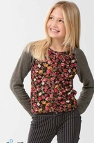 Ragdoll & Rockets Adorable Floral Buffy Cardigan Tween 7 Last 1