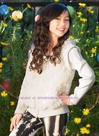 Ragdoll & Rockets Cream Shaggy Furry  Tween Cardigan 7/8