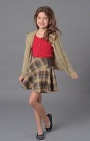 Ragdoll & Rockets Fun Plaid Scuba Skirt Tween 16 lk 14