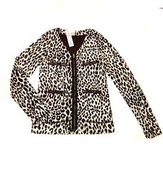 Ragdoll & Rockets Layla Cheetah Girls Zip Cardigan 7 8