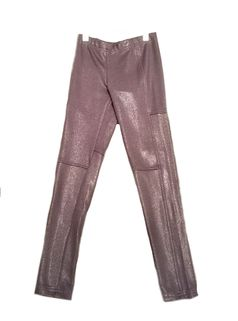 Ragdoll & Rockets Lurex Leather Smoky Grey Pants 10