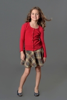Ragdoll & Rockets Mars Red Thermal Cardigan Tween