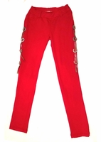 Ragdoll & Rockets Red Concho Stretchy Terry Pants w/Side Detail  7