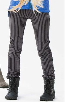 Ragdoll & Rockets Striped Slate Color Girls Pants Tween 7