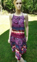 "Ragdoll & Rockets ""Tiki prints"" 2pc Halter Top & Hanky Skirt Set Tween"