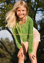 Ragdoll & Rockets Tween Crochet Bella Cardigan 7/8 16