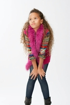 Ragdoll & Rockets Tween Hot Pink Knit Leah Vest 16 last 1