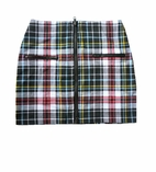Ragdoll & Rockets Tween  Punk Zipper Skirt Pink Check  10 12