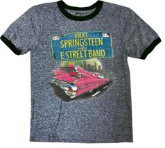Rowdy Sprout Bruce Springsteen Boy's Short Sleeves Concert Tee