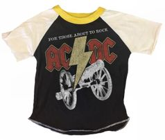 Rowdy Sprout Cool Boy's Short Sleeves Concert Tee ACDC 8 10 12