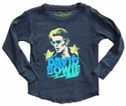 Rowdy Sprout David Bowie Boy's Thermal Concert Tee 8 *Top Seller*
