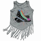 Rowdy Sprout Girls Footloose Fringe Tank/Tee 4T 8 10