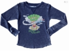 Rowdy Sprout Green Day Navy Thermal Burnout Boy's Tee 6 10