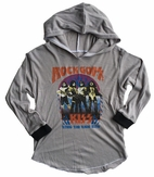 "Rowdy Sprout ""Kiss"" Grey Hooded Boy's/Girls Concert Tee 10 Last1"