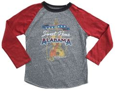 """Rowdy Sprout """"Sweet Home Alabama"""" Boy's Concert Tee 12"""