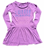 Rowdy Sprout Whitney Houston Concert Lavender Long Sleeves Dress  10