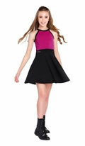 Sally Miller Elli Dress Tween Girls Fuschia Black