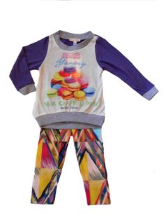 Baby Sara 2pc Macarons Tunic & Fun Leggings Set 3T 4T Last 2