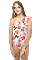 Submarine 1pc Adorable Rose Print Girls Swimsuit *Top Seller*