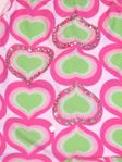 Submarine 1pc Darling Pink & Grean Beaded Hearts Infant Girls Swimsuit 24m