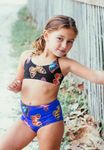 Submarine 2pc Butterfly High Waist Girls Tankini Swimsuit 10