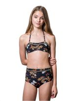 Submarine 2pc High Tides Black w/Butterflies Girls Swimsuit *Top Seller*