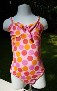 SUBMARINE A Must have 1pc Fun Polka Dot Swimsuit w/Bow Tie 4