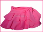 Submarine Neon Bubble Gum Pink  Tiered Tie Skirt/Cover-Up