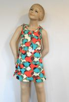SUBMARINE Colrful & Fun Girls Summer Dress w/Hearts