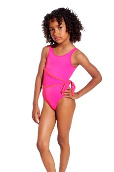 Submarine  Gorgeous 1pc Hot Pink Swimsuit  4/4t last 1