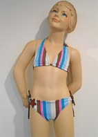 SUBMARINE 2pc Striped Tween Girl's Bikini w/Sparkle 8 10 16