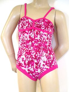 Submarine  Darling 1pc Floral Pink Girls Swimsuit  4