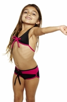 Submarine  2pc Very Cute Black & Pink Girls Tankini 6x 12