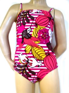 Submarine 1pc beautiful Tropical Floral Swimsuit 6  8