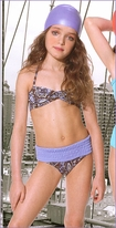 Submarine Blue & Brown Paisley Shirred 2pc Swimsuit Little Girl sz 6