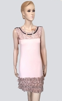 Super Trash Powder Pink Tween Dolorita Dress w/necklace 10 16