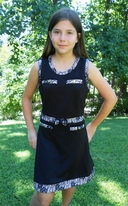 Super Trash Elegant Black Tween Donja Sheath Dress w/lace 14