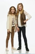 Tru luv Golden beige Long Faux Fur Girls Vest  S(8 )