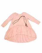 TRU LUV Rose Pink Soho Tunic Top w/Necklace 8 14
