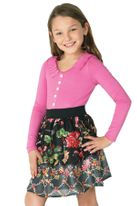 Truly Me Beautiful  Floral Skirt Long Sleeve Tween Dress  14