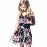 687dd9960ed2 Truly Me by Hannah Banana Tiered Ruffle Dress w Black Bow Belt 4