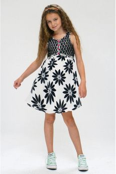 "Truly Me ""Cassandra"" Black & White Little Girls Dress  sz 4"