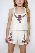 Truly Me Ivory Lace Overlay Top Girls Summer Romper 7