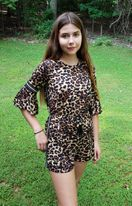 Truly Me Fall 19 Hot Leopard Print Tween Romper *Top Seller*