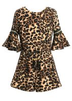Truly Me Fall 19 Popular Leopard Print Tween Romper *Top Seller*