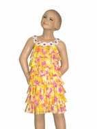 Truly Me  Fun & Happy Floral Daisy Rhumba Ruffle Dress sz 6
